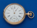 Timepieces:Pocket (pre 1900) , Pateck (Swiss) 48 mm 14k Open Face. ...