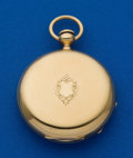 Timepieces:Pocket (pre 1900) , Elgin Gail Borden 18k 10 Size Hunters Case. ...