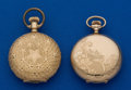 Timepieces:Pocket (post 1900), Elgin & Waltham, Two O Size Hunter Cases. ...