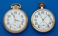 Timepieces:Pocket (post 1900), Two Illinois 21 Jewel Bunn Special & 23 Jewel Sixty Hour BunnSpecial Pocket Watches Runners. ... (Total: 2 Items)