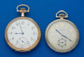 Timepieces:Pocket (post 1900), Two Howard 17 Jewels 12 Size Pocket Watches Runners. ... (Total: 2 Items)