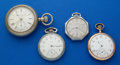Timepieces:Pocket (post 1900), Four Pocket Watches All Runners. ... (Total: 4 Items)