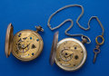 Timepieces:Pocket (pre 1900) , Two Waltham Model P.S. Bartlett Civil War Period Key Wind PocketWatches Runners. ... (Total: 2 Items)