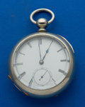 Timepieces:Pocket (pre 1900) , Waltham 18 Size Key Wind Pocket Watch. ...