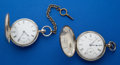 Timepieces:Pocket (pre 1900) , Two Waltham 18 Size Silver Key Winds. ... (Total: 2 Items)