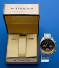 Timepieces:Wristwatch, Wittnauer Three Register Chronograph With GMT 24 Hour Pointer. ...