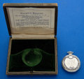 Timepieces:Pocket (post 1900), Illinois 14k Gold & Enamel 23 Jewel 12 Size With Box. ...