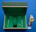 Timepieces:Wristwatch, Rolex Lady's Ref. 6917 Two Tone Oyster Perpetual Date, circa 1980....