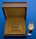 Timepieces:Wristwatch, Bulova 18k Gold Accutron With Box. ...