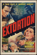 "Movie Posters:Mystery, Extortion (Columbia, 1938). One Sheet (27"" X 41""). Mystery.. ..."