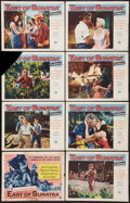 "Movie Posters:Adventure, East of Sumatra (Universal, 1953). Lobby Card Set of 8 (11"" X 14"").Adventure.. ... (Total: 8 Items)"