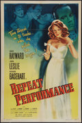 "Movie Posters:Mystery, Repeat Performance (Eagle Lion, 1947). One Sheet (27"" X 41""). Mystery.. ..."