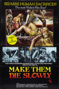 "Movie Posters:Horror, Make Them Die Slowly (Alemannia, 1982). One Sheet (27"" X 41"") FlatFolded. Horror.. ..."