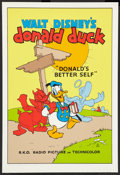 "Movie Posters:Animation, Donald's Better Self (Circle Fine Art, R-1980s). Fine Art Serigraph(21"" X 30.75""). Animation.. ..."