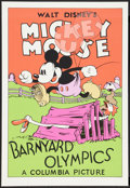 "Movie Posters:Animation, Barnyard Olympics (Circle Fine Art, R-1980s). Fine Art Serigraph(21"" X 30.75""). Animation.. ..."