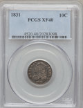 Bust Dimes: , 1831 10C XF40 PCGS. PCGS Population (13/249). NGC Census: (11/257).Mintage: 771,350. Numismedia Wsl. Price for problem fre...