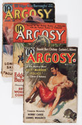 Pulps:Adventure, Argosy Weekly Edgar Rice Burroughs Group (Munsey, 1937-39) Condition: Average GD/VG.... (Total: 3 )