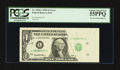 Error Notes:Foldovers, Fr. 1918-L $1 1993 Federal Reserve Note. PCGS Choice About New55PPQ.. ...