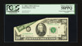 Error Notes:Foldovers, Fr. 2068-J $20 1969A Federal Reserve Note. PCGS Choice About New58PPQ.. ...