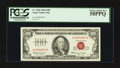 Small Size:Legal Tender Notes, Fr. 1550 $100 1966 Legal Tender Note. PCGS Choice About New 58PPQ.. ...