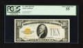 Small Size:Gold Certificates, Fr. 2400 $10 1928 Gold Certificate. PCGS Choice About New 55.. ...