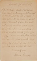 Autographs:Celebrities, Frederick Douglass Autograph Letter Signed...
