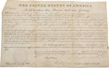 Autographs:U.S. Presidents, Andrew Jackson Land Grant Signed as President....