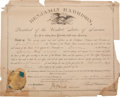 Political:Miscellaneous Political, Benjamin Harrison Appointment Signed as President....