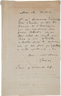 Autographs:Artists, Pierre August Renoir Autograph Letter Signed to Art Critic RogerMarx....