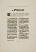 Autographs:U.S. Presidents, Harry S. Truman Proclamation Signed as President....