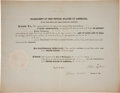 Autographs:U.S. Presidents, John Tyler Appointment Signed as President....