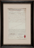 "Autographs:Celebrities, Phineas T. Barnum Letter of Attorney Signed ""Phineas T.Barnum.""..."
