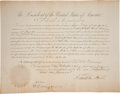 Political:Miscellaneous Political, Franklin Pierce Signed Appointment...