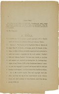 Miscellaneous:Ephemera, [Civil War] Bill Granting a Special Copyright to William J.Hardee....