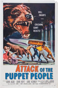 Memorabilia:Poster, Attack of the Puppet People Movie Poster (International,1958)....