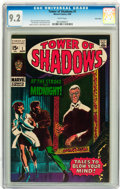 Silver Age (1956-1969):Horror, Tower of Shadows #1 Twin Cities pedigree (Marvel, 1969) CGC NM- 9.2White pages....
