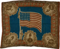 Political:Textile Display (pre-1896), Zachary Taylor: Colorful and Graphic Bandanna....