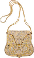 Luxury Accessories:Bags, Judith Leiber Gold and Bead Early Design Minaudiere Bag. ...