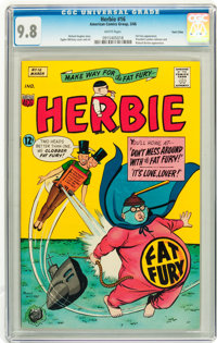 Herbie #16 Twin Cities pedigree (ACG, 1966) CGC NM/MT 9.8 White pages