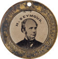 Political:Ferrotypes / Photo Badges (pre-1896), Horatio Seymour: Large Back-to-Back Ferrotype....
