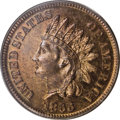 Early Proof Sets: , 1866 1C Indian Cent PR64 Red and Brown PCGS. A needle-sharp near-Gem with unmarked surfaces and good eye appeal. Orange-gol...