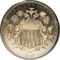 Early Proof Sets: , 1866 5C Rays Nickel PR66 PCGS. The 1866 Rays is important as a proof type coin, since the alternative is the very rare 1867...