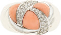 Estate Jewelry:Rings, Coral, Diamond, Gold Ring, French. ...