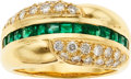 Estate Jewelry:Rings, Diamond, Emerald, Gold Ring. ...