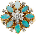 Estate Jewelry:Rings, Diamond, Opal, Gold Ring. ...