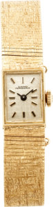 Estate Jewelry:Watches, Girard Perregaux Lady's Gold Integral Bracelet Wristwatch, circa1970. ...