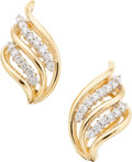 Estate Jewelry:Earrings, Diamond, Gold Earrings, Cardow. ...