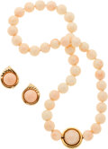 Estate Jewelry:Suites, Coral, Gold Jewelry Suite. ...