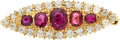 Estate Jewelry:Brooches - Pins, Ruby, Diamond, Gold Brooch. ...