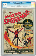 Silver Age (1956-1969):Superhero, The Amazing Spider-Man #1 (Marvel, 1963) CGC VG- 3.5 Whitepages....